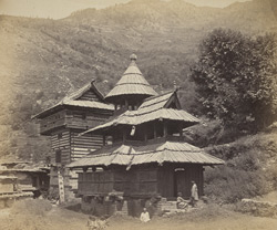 Temple at Chergaon, Himalaya